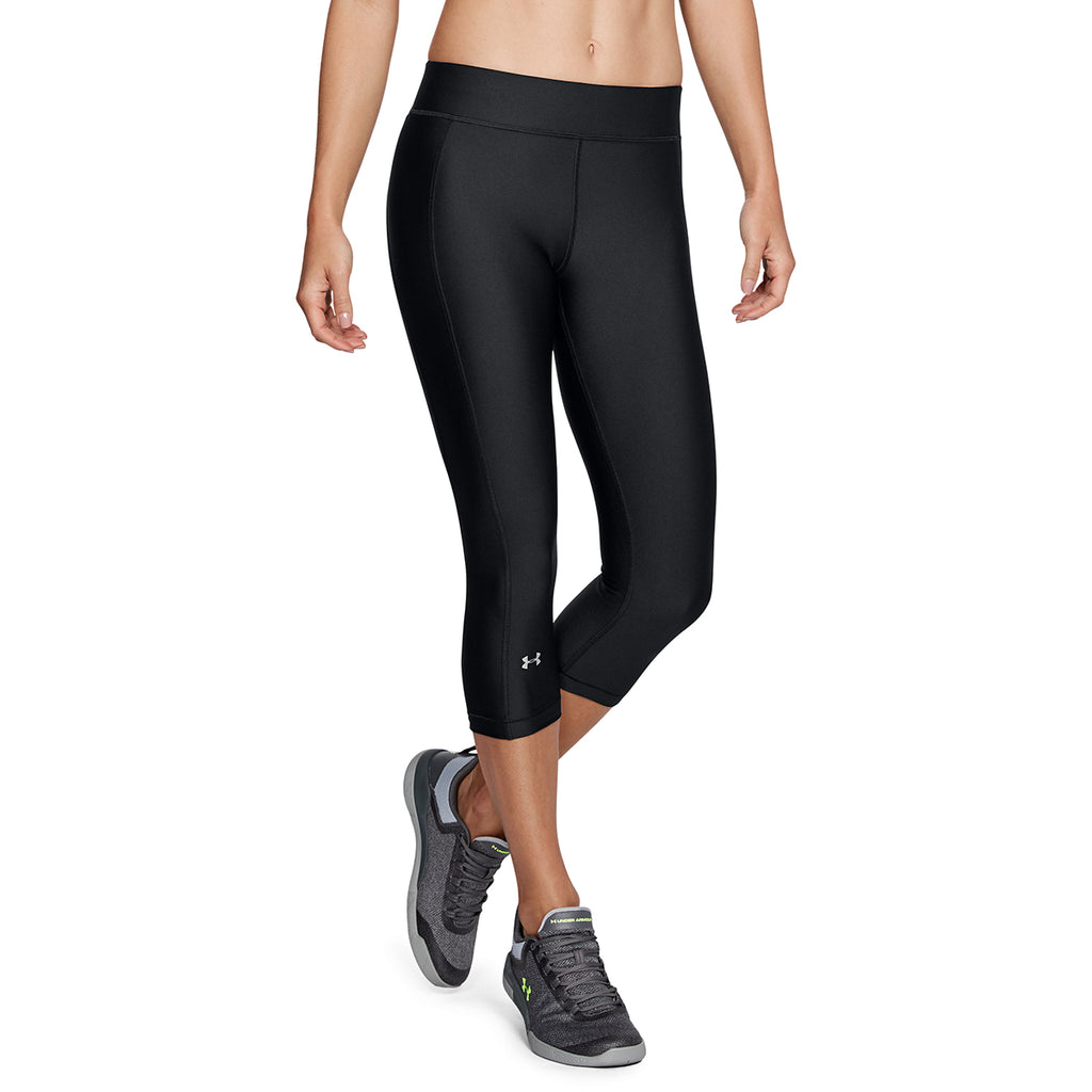 Under Armour Women's Black HeatGear Armour Capri