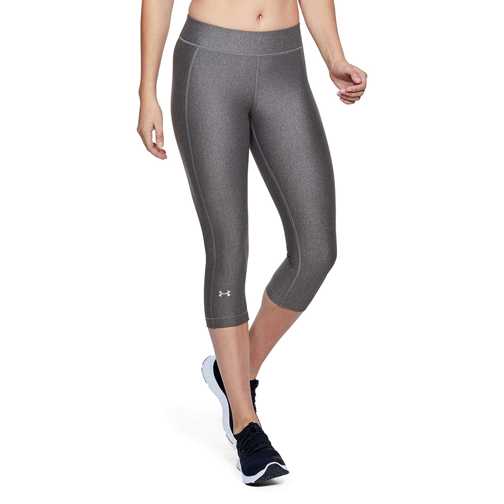 Under Armour Women's Charcoal Light Heather HeatGear Armour Capri