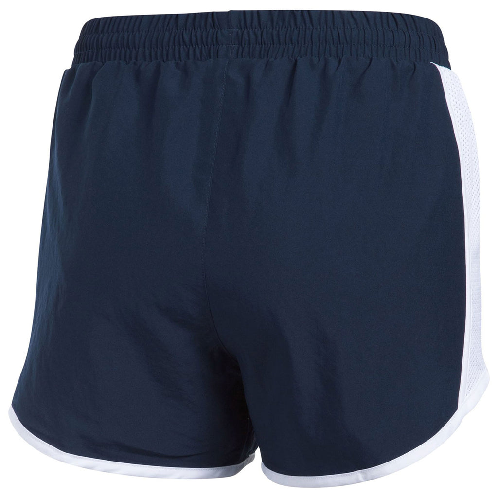 Under Armour Women's Midnight Navy Team Fly By Shorts