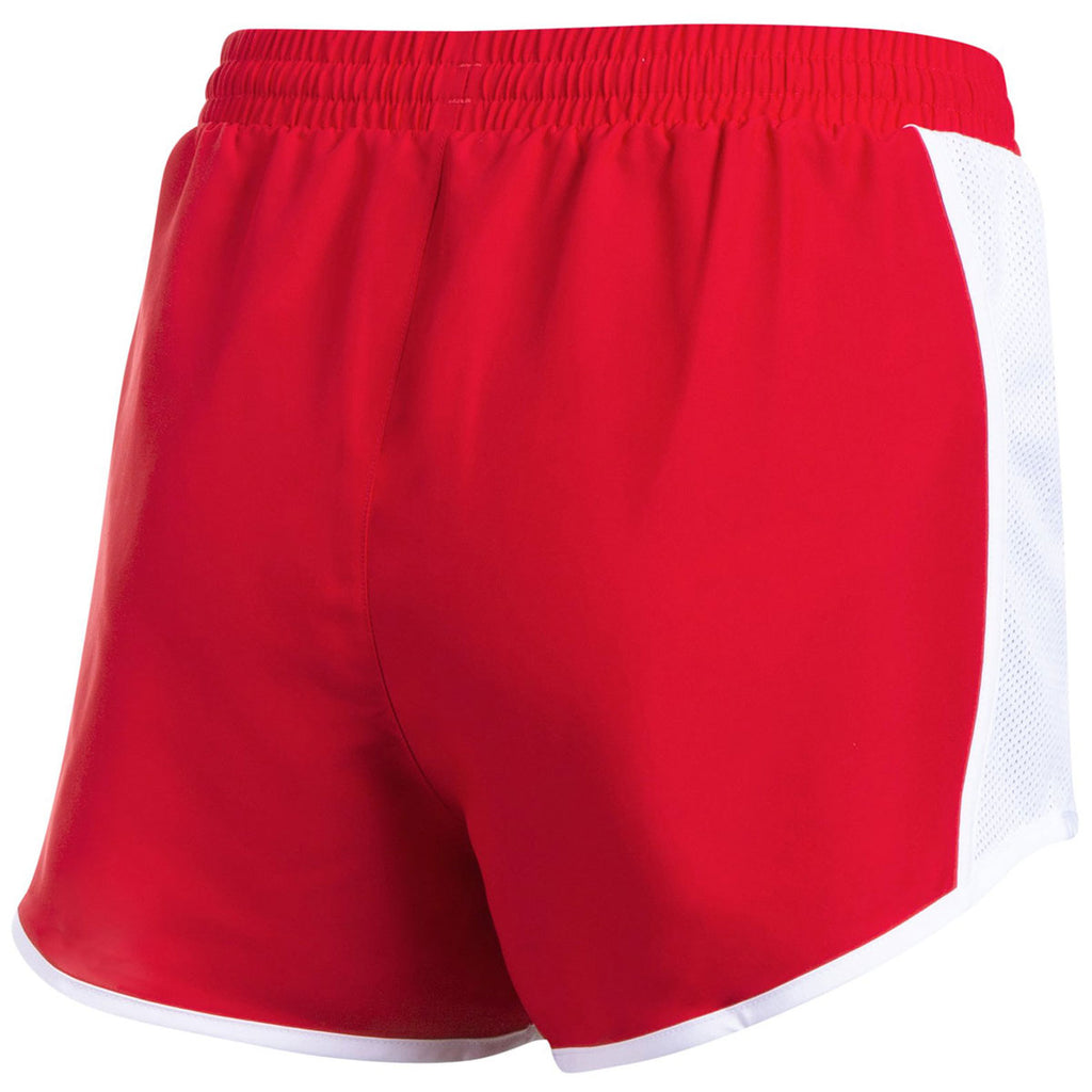 Under Armour Women's Red Team Fly By Shorts