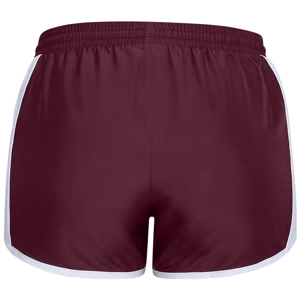 Under Armour Women's Maroon Team Fly By Shorts