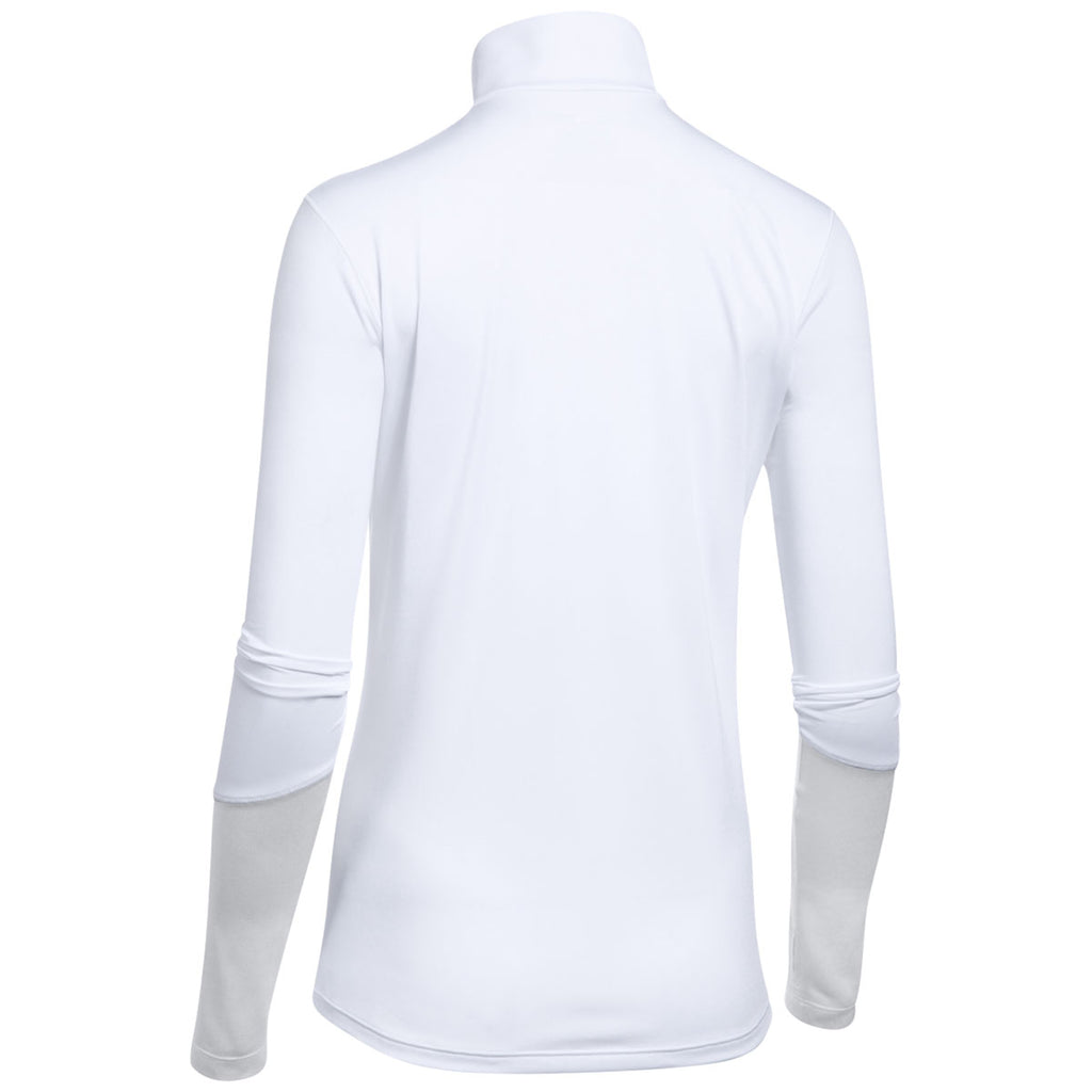 Under Armour Women's White/Elemental Light Heather Locker 1/4 Zip