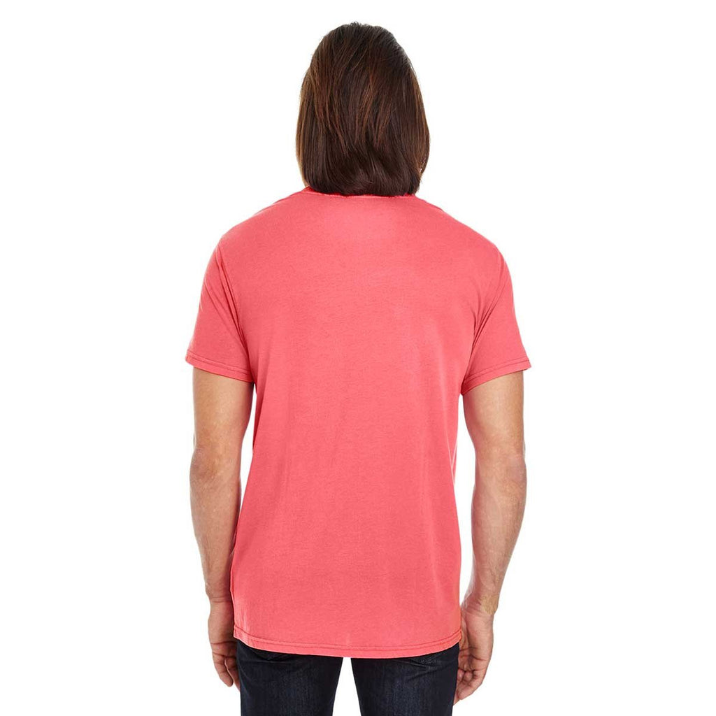 Threadfast Unisex Red Pigment Dye Short-Sleeve T-Shirt
