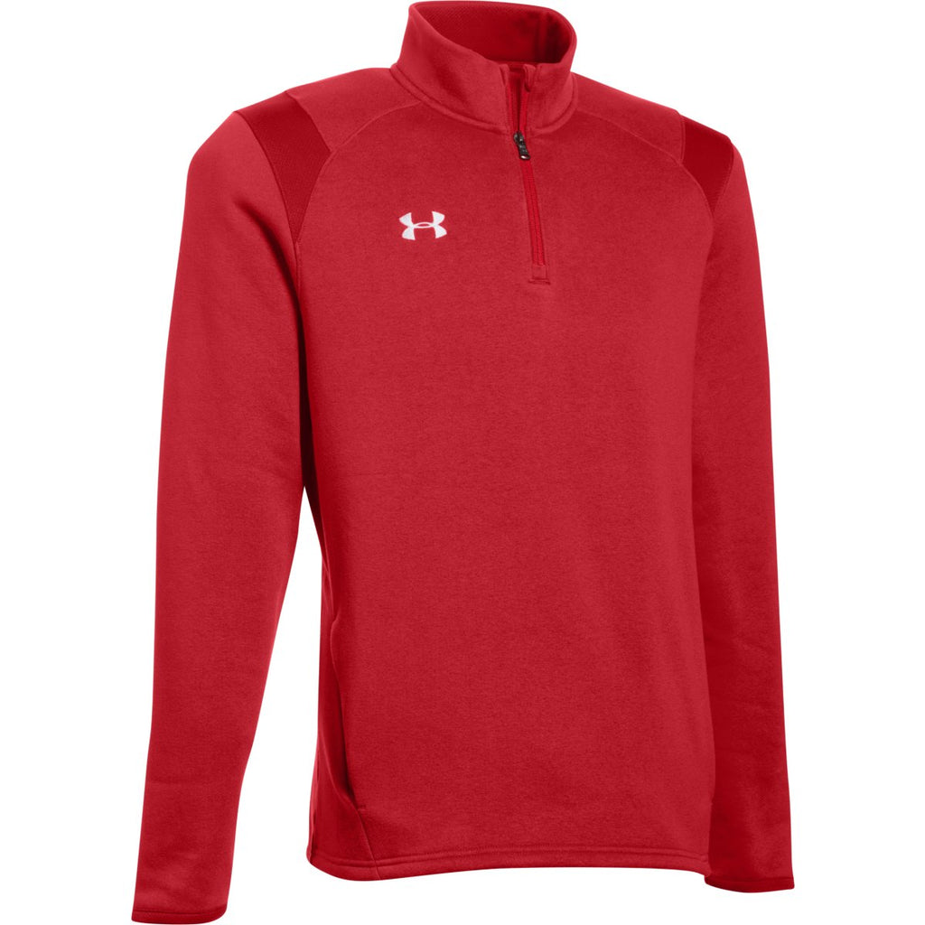 the best attitude 47420 e90a3 Under Armour Men s Red Hustle Fleece 1 4 Zip