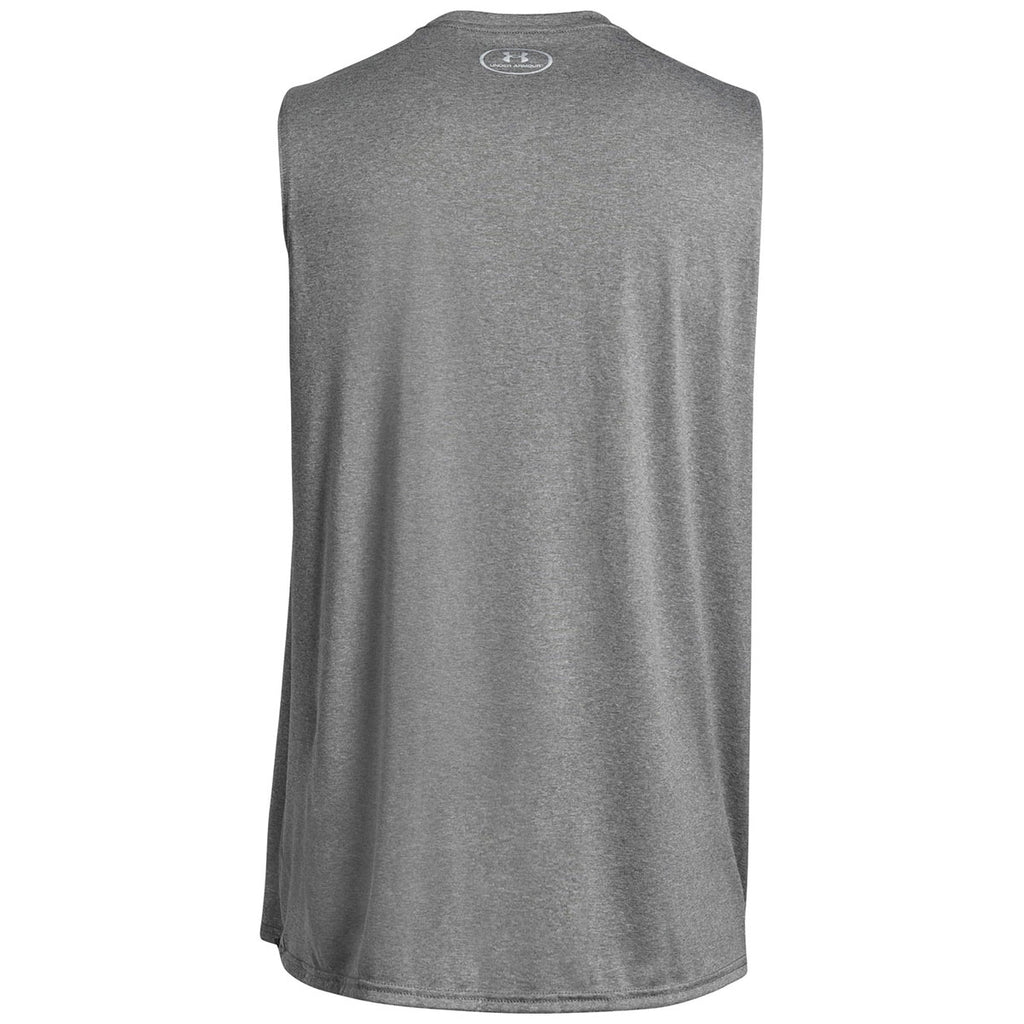 Under Armour Men's True Grey Heather Sleeveless Locker Tee