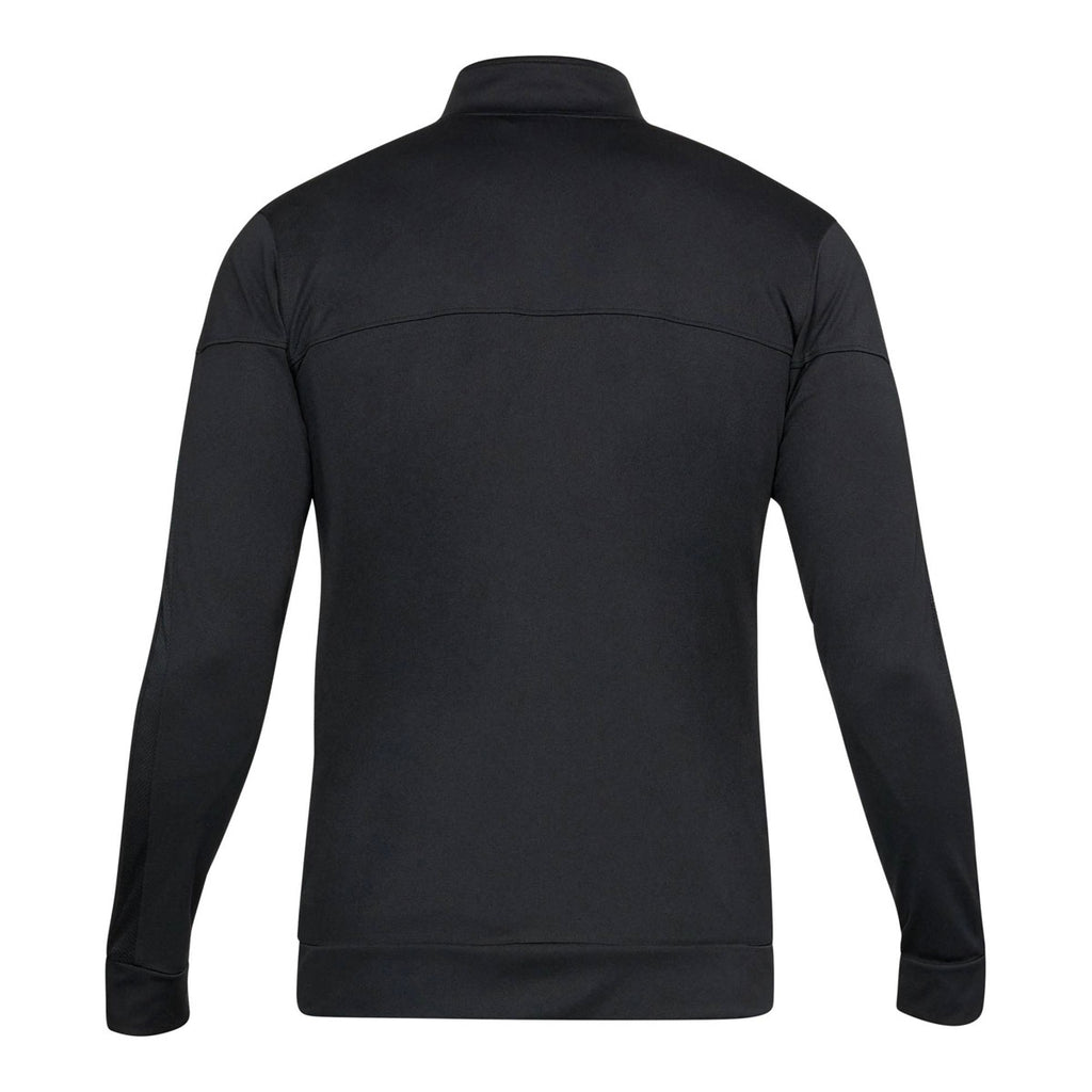 Under Armour Men's Black Sportstyle Pique Track Jacket