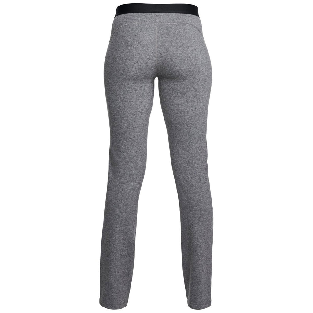 Under Armour Women's Charcoal Light Heather Favorite Straight Leg Pant