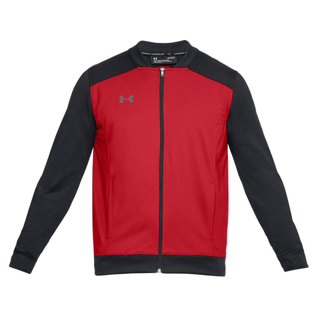 lowest price 9ee99 004cc Under Armour Men s Red Black Challenger II Track Jacket. ADD YOUR LOGO