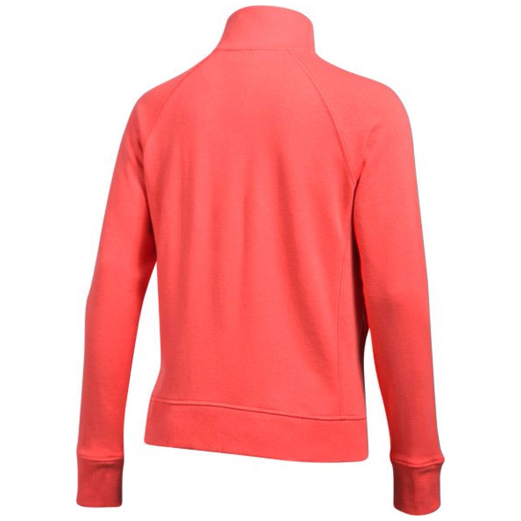 Under Armour Women's Marathon Red French Terry 1/2 Zip