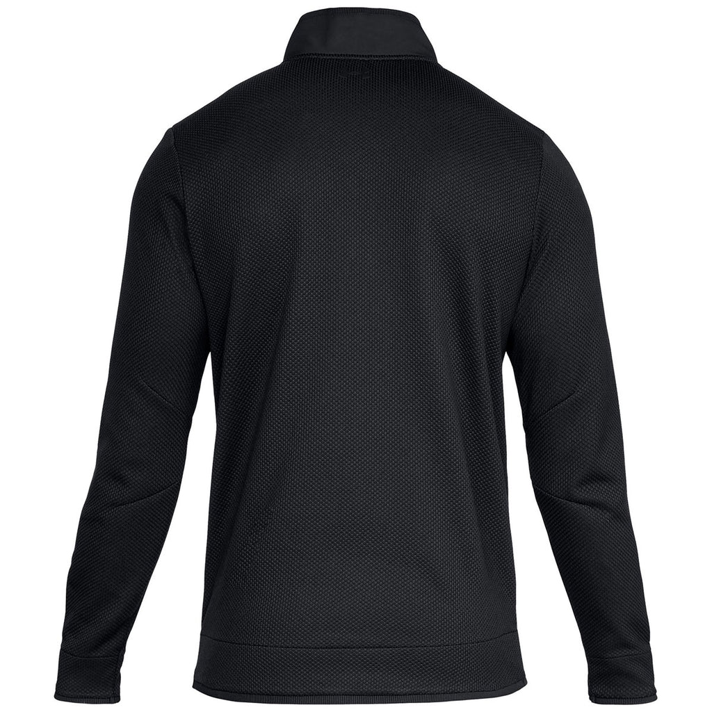 Under Armour Men's Black Sweaterfleece Snap Mock Neck