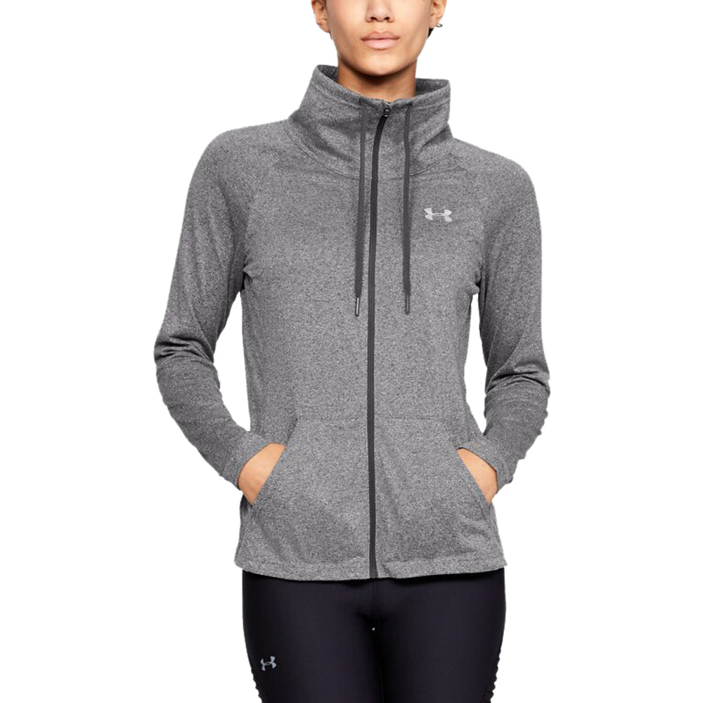 Under Armour Women's Charcoal Light Heather Tech Full Zip