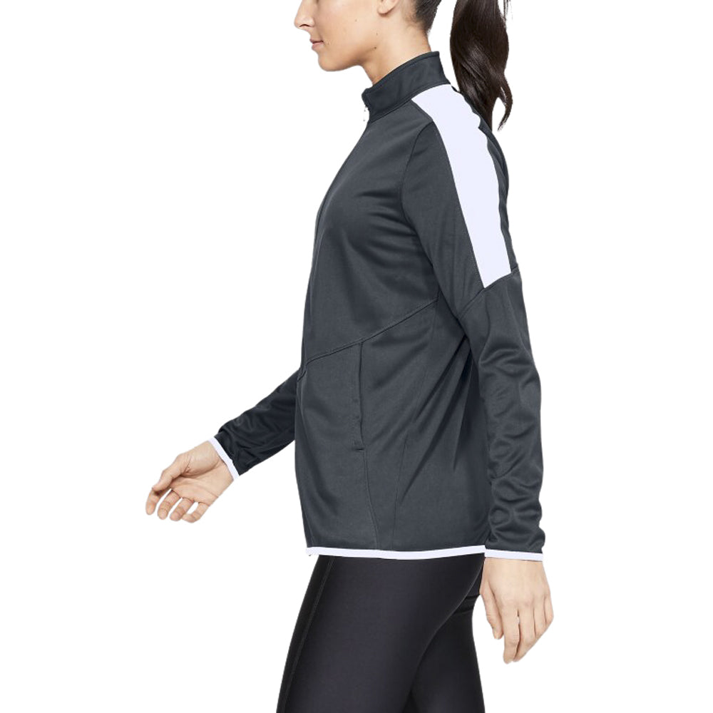 Under Armour Women's Stealth Grey Rival Knit Jacket
