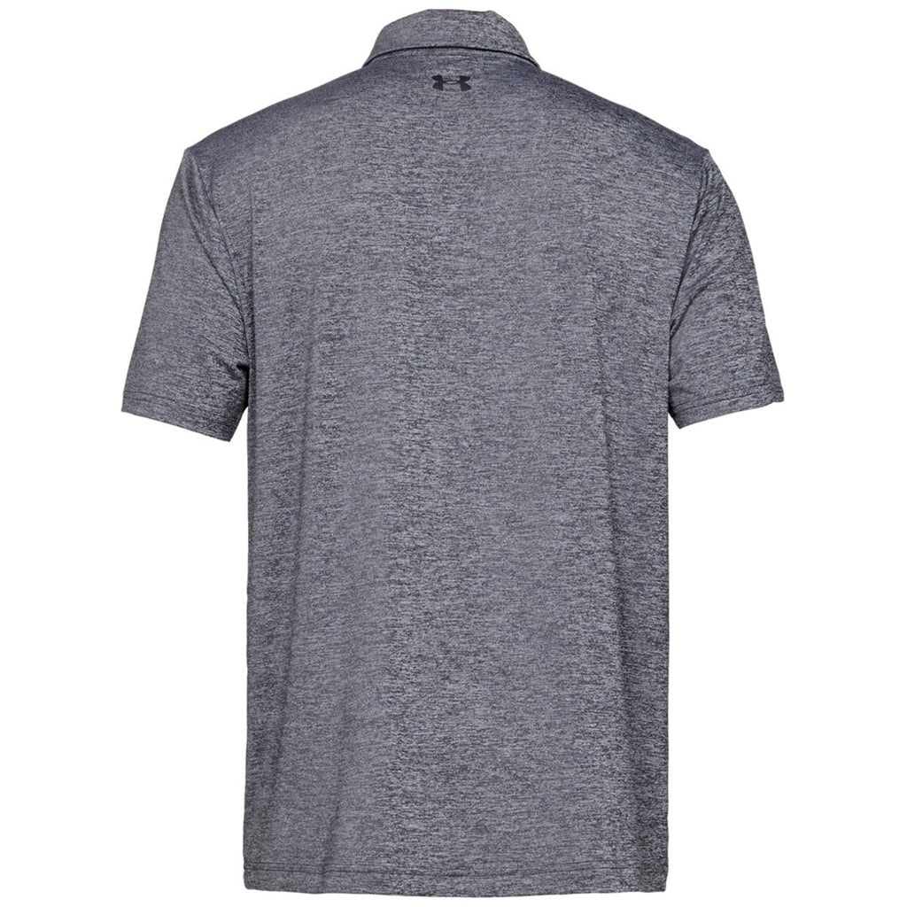 Under Armour Men's Black Light Heather Playoff 2.0 Polo