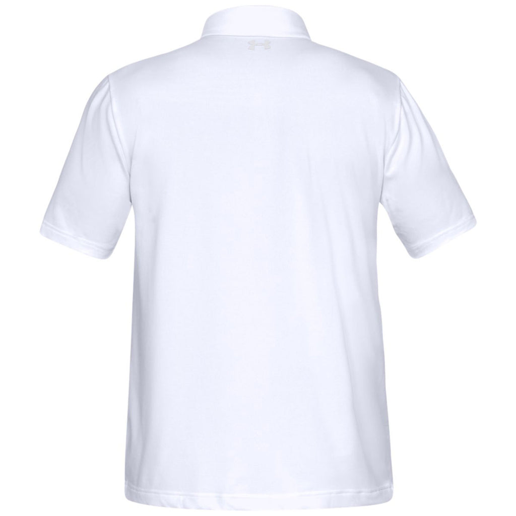 Under Armour Men's White Playoff 2.0 Polo