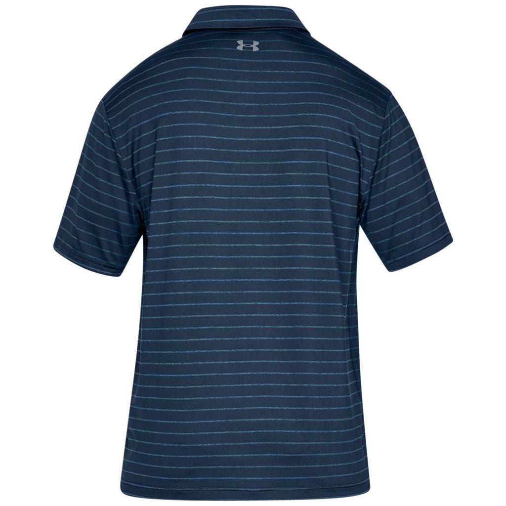 Under Armour Men's Academy Striped Playoff 2.0 Polo