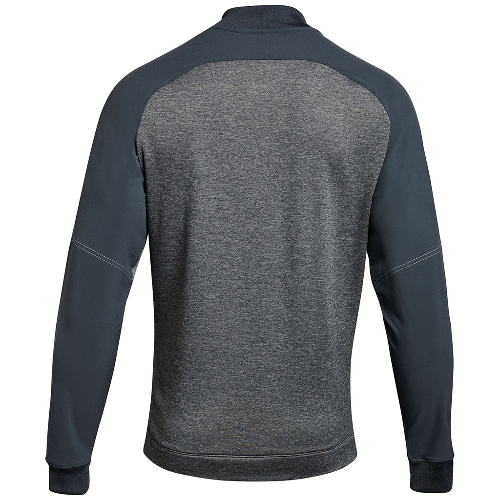 Under Armour Men's Stealth Grey Qualifier Hybrid Warm-Up Jacket