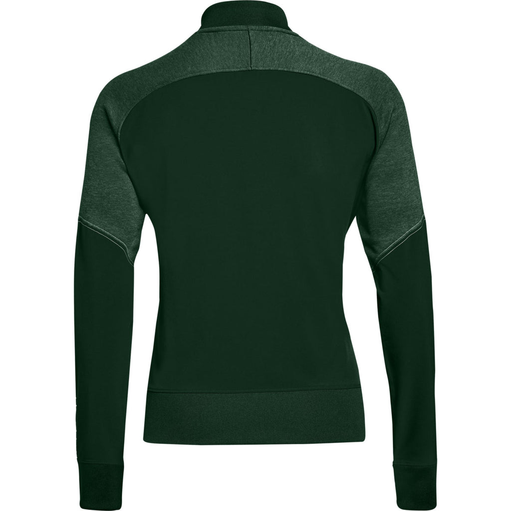 Under Armour Women's Forest Green Qualifier Hybrid Warm-Up Jacket
