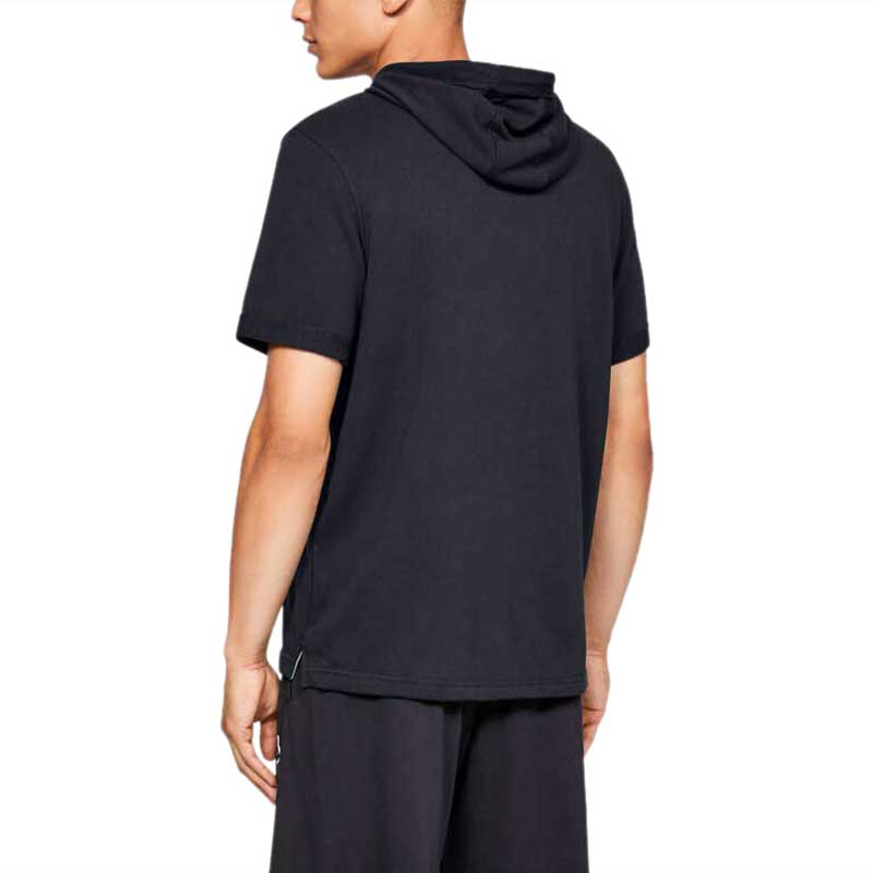 Under Armour Men's Black Sportstyle Terry Short Sleeve Hoody