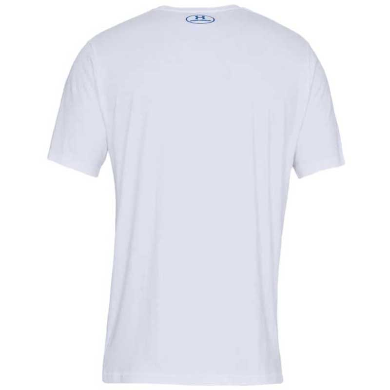 Under Armour Men's White Big Logo Short Sleeve