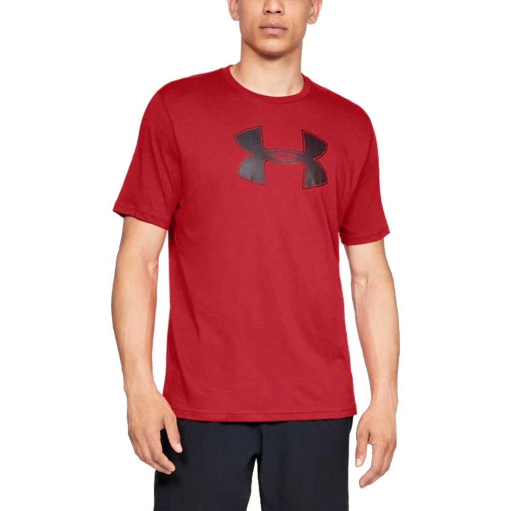 Under Armour Men's Red Big Logo Short Sleeve