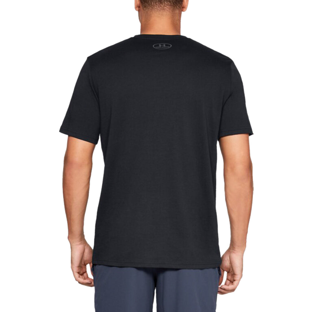 Under Armour Men's Black Big Logo Short Sleeve