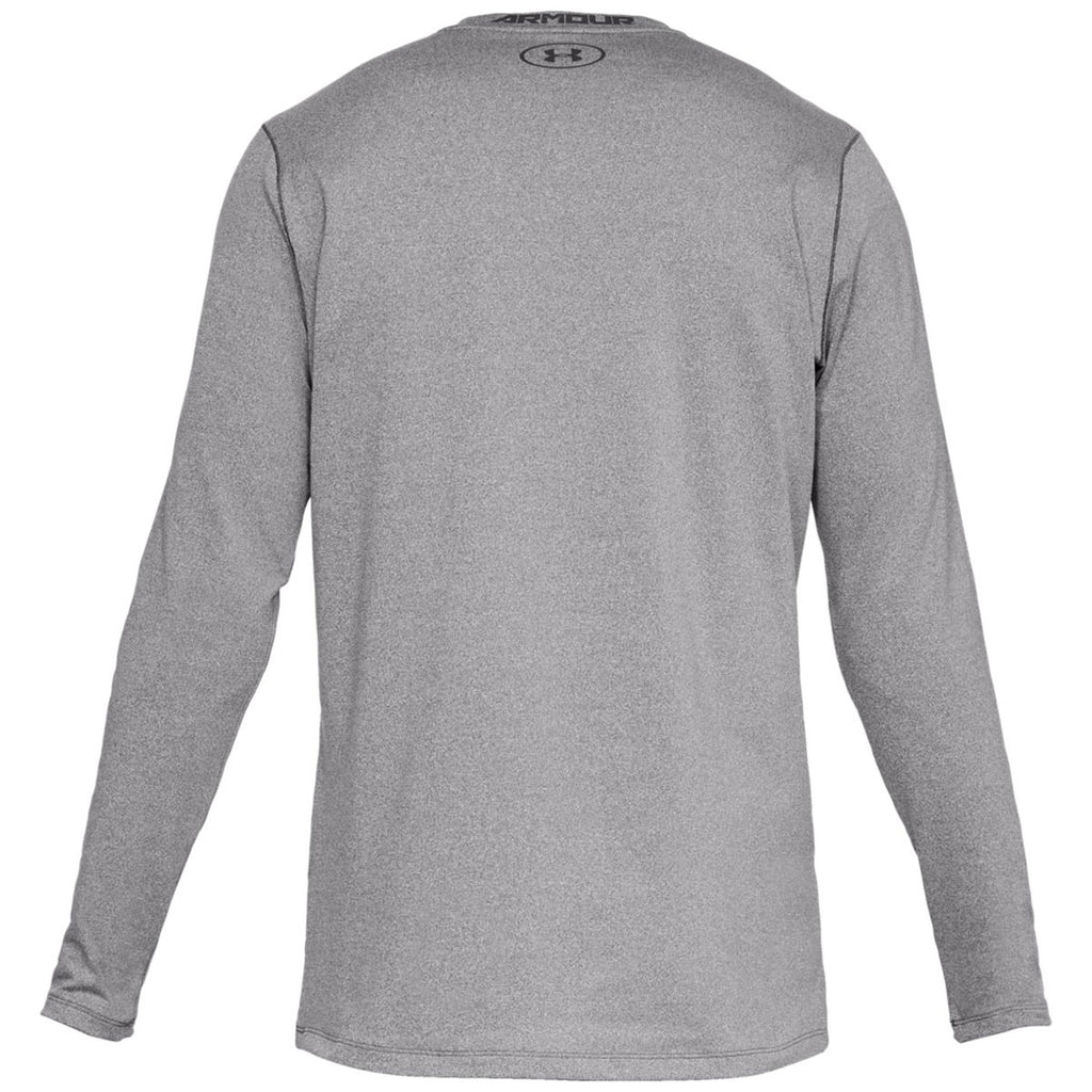 Under Armour Men's Charcoal Light Heather Fitted Crew Tee