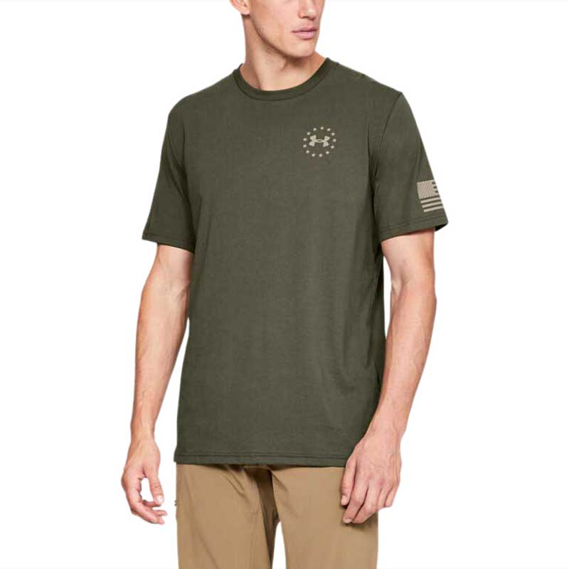 Under Armour Men's Marine Green Freedom Flag Tee