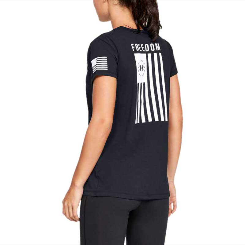 Under Armour Women's Black Freedom Flag Tee