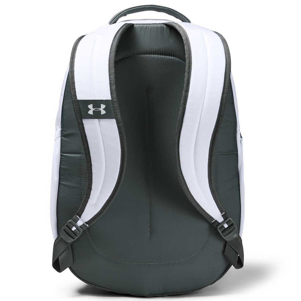 Under Armour White Hustle 4.0 Backpack