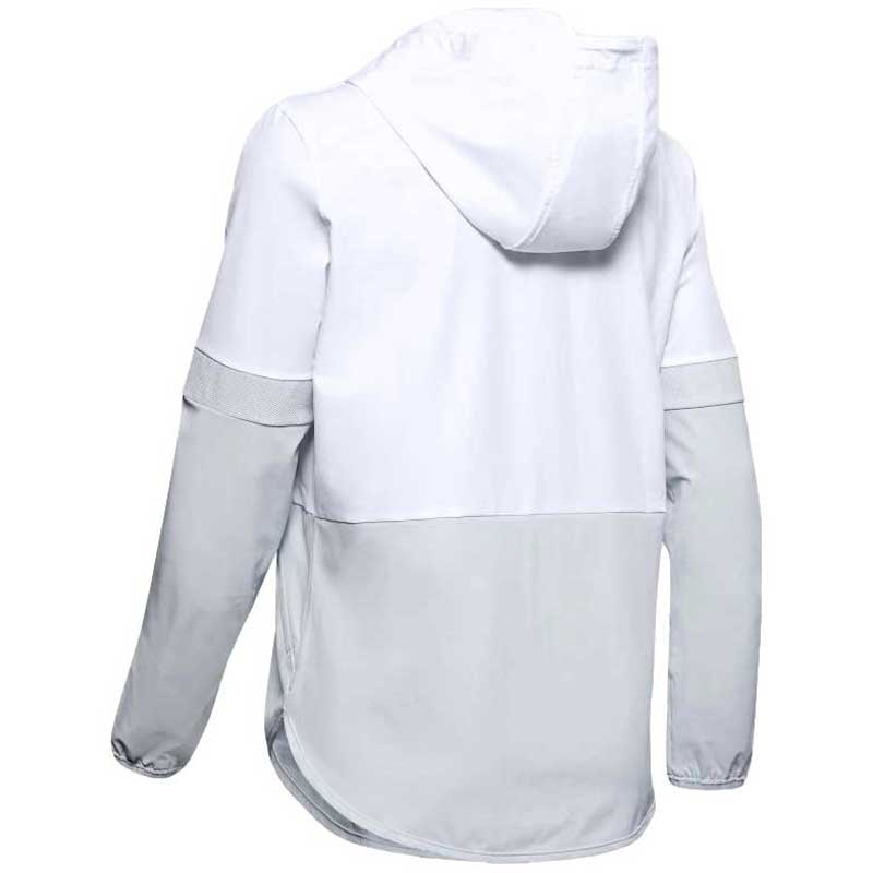 Under Armour Women's White Squad Woven Jacket