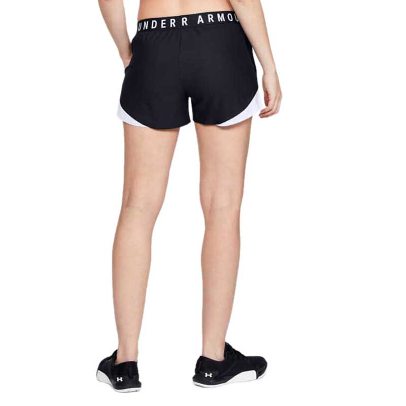 Under Armour Women's Black/White Play Up Shorts 3.0