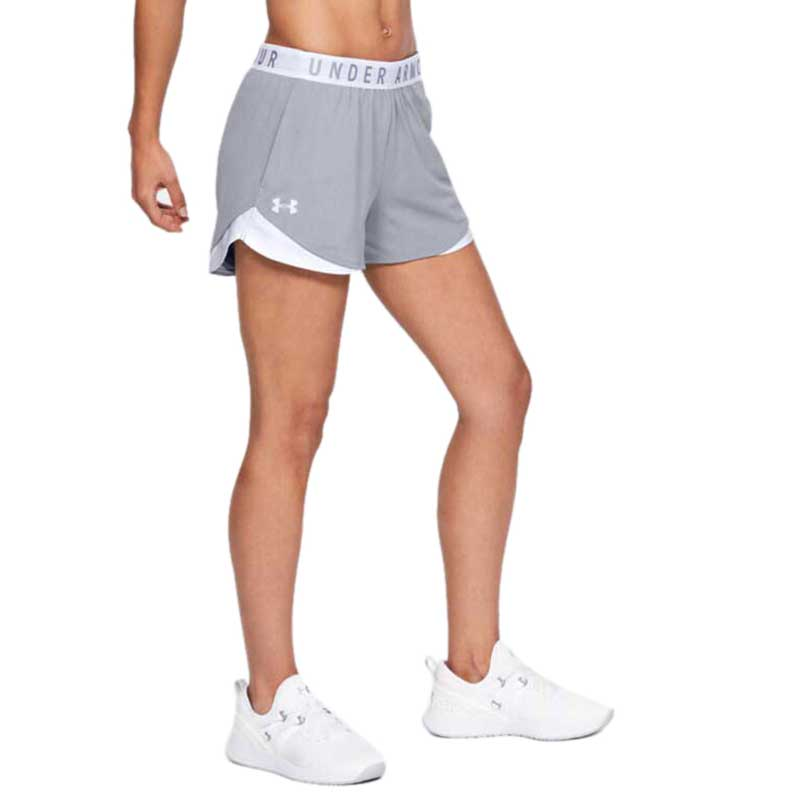 Under Armour Women's True Grey Heather Play Up Shorts 3.0
