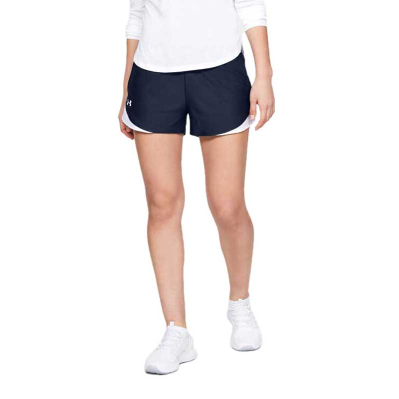 Under Armour Women's Midnight Navy Play Up Shorts 3.0