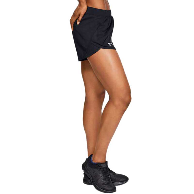 Under Armour Women's Black/Black Fly By 2.0 Shorts
