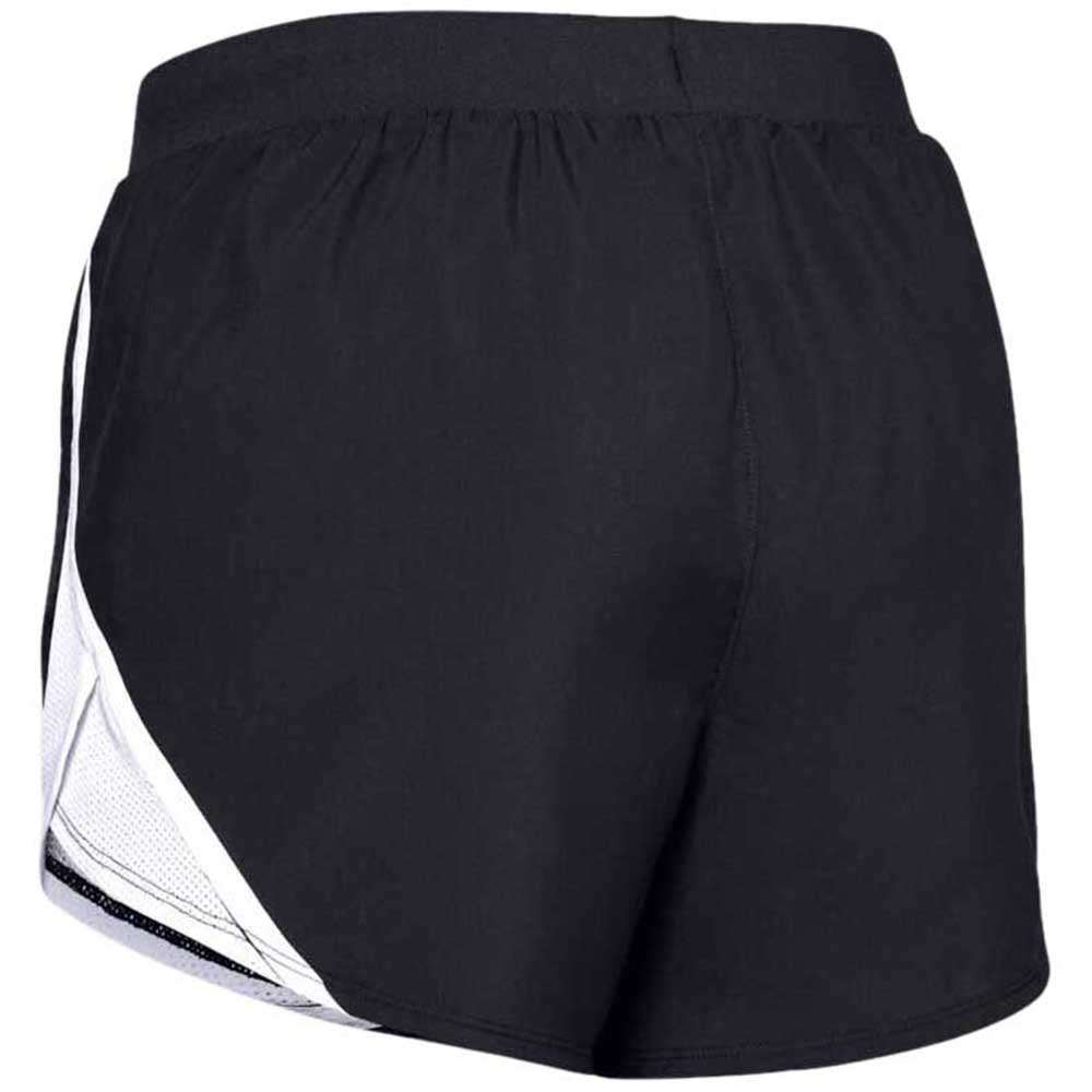Under Armour Women's Black/White Fly By 2.0 Shorts