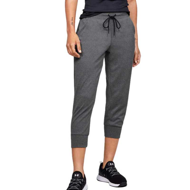 Under Armour Women's Heather Grey/Black Tech Capri