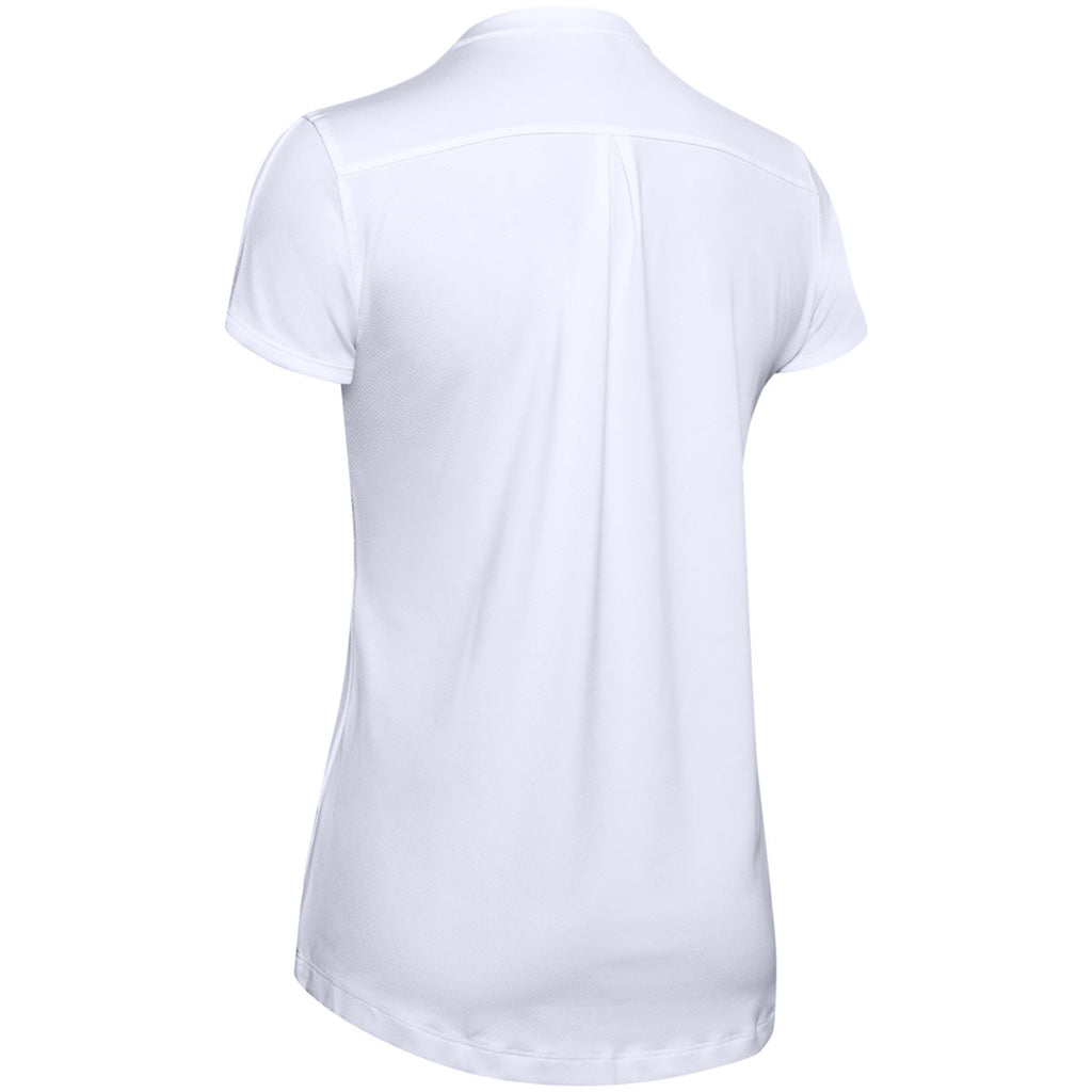 Under Armour Women's White Team Performance Polo