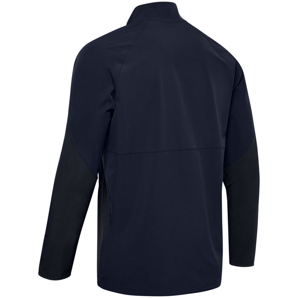 Under Armour Men's Midnight Navy Motivate Long Sleeve Quarter Zip