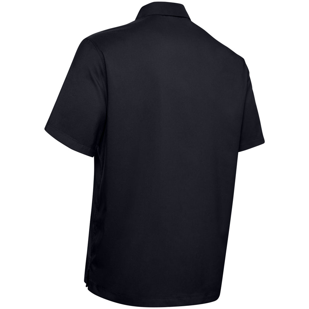 Under Armour Men's Black Motivate Button Up