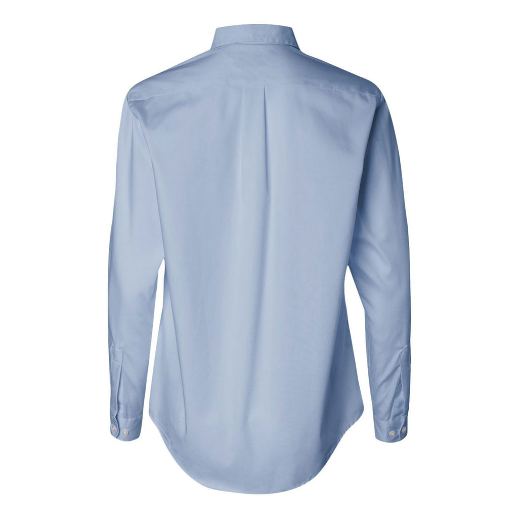Van Heusen Women's Light Blue Pinpoint Dress Shirt