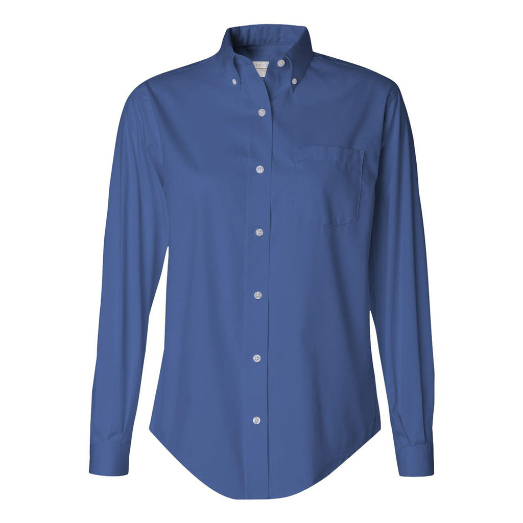 van heusen women 39 s steel blue pinpoint dress shirt