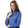Van Heusen Women's Steel Blue Pinpoint Dress Shirt