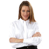 Van Heusen Women's White Pinpoint Dress Shirt