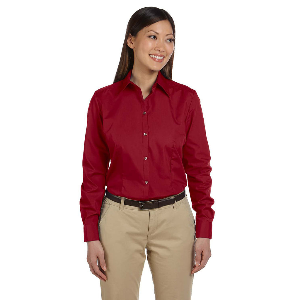 Van Heusen Women's Cardinal Silky Poplin Dress Shirt