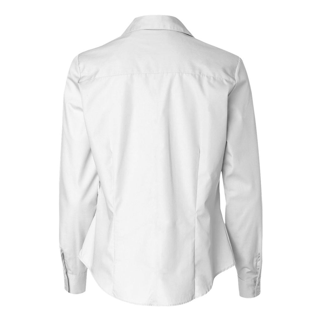 Van Heusen Women's White Silky Poplin Dress Shirt