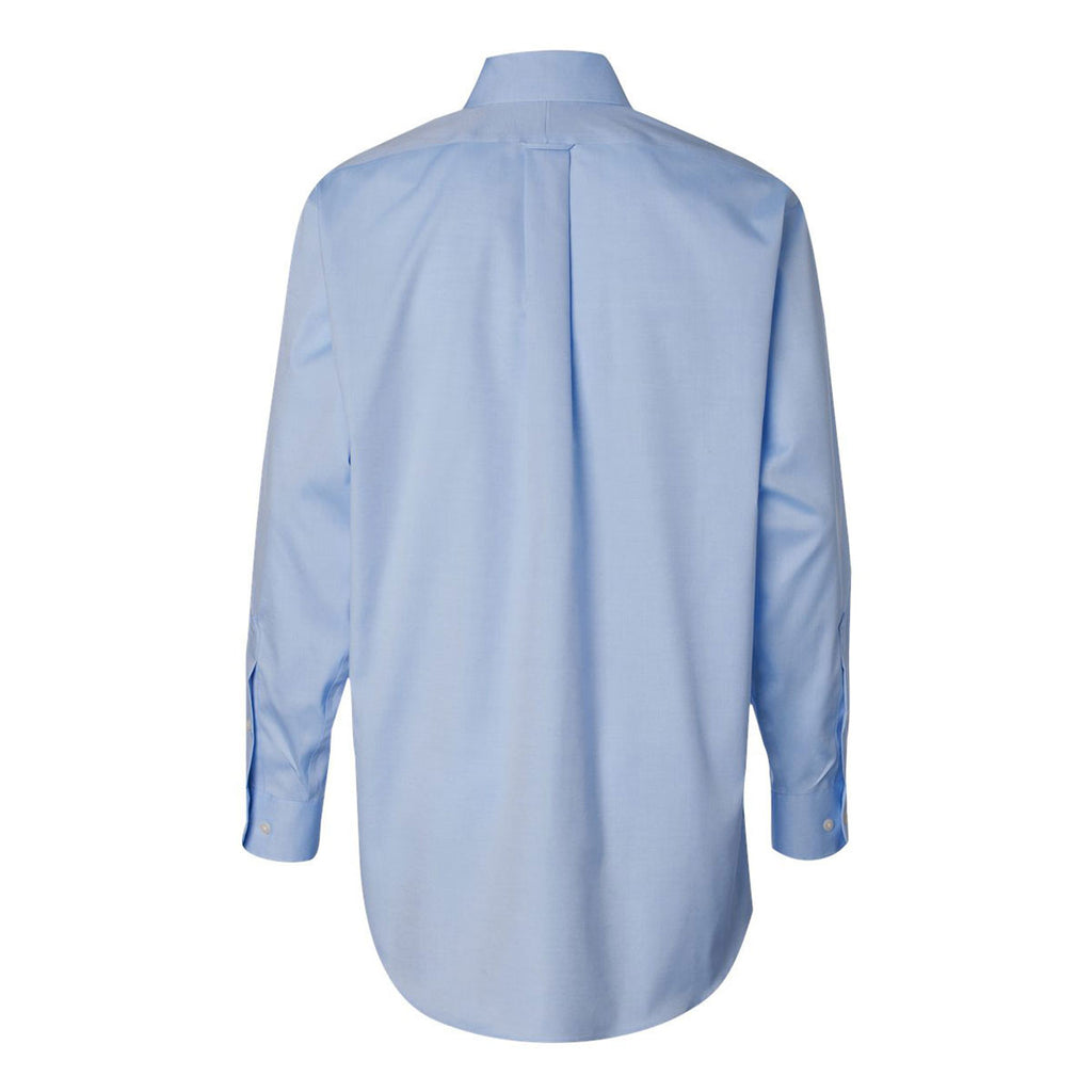 Van Heusen Men's Blue Mist Non-Iron Pinpoint Dress Shirt