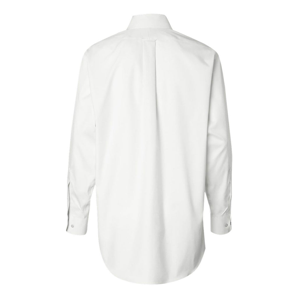 Van Heusen Men's White Non-Iron Pinpoint Dress Shirt