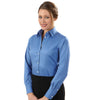Van Heusen Women's Danish Blue Non-Iron Pinpoint Dress Shirt