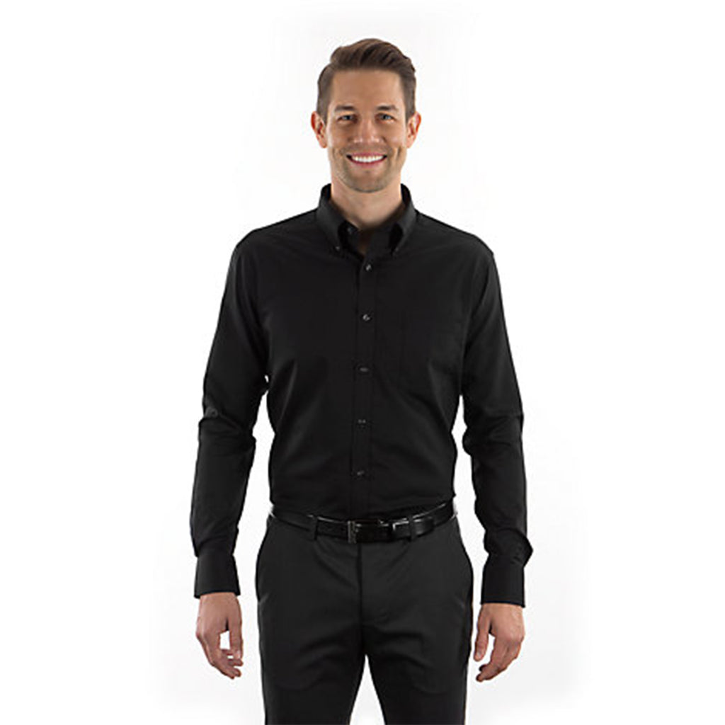 Van Heusen Mens Black Slim Fit Twill Shirt