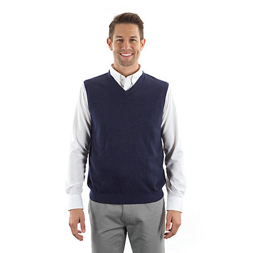 32063ff7af Van Heusen Men s Navy V-Neck Sweater